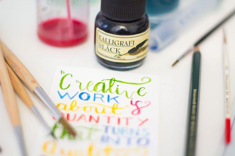 akvarell och flytande bläck citat om kreativitet